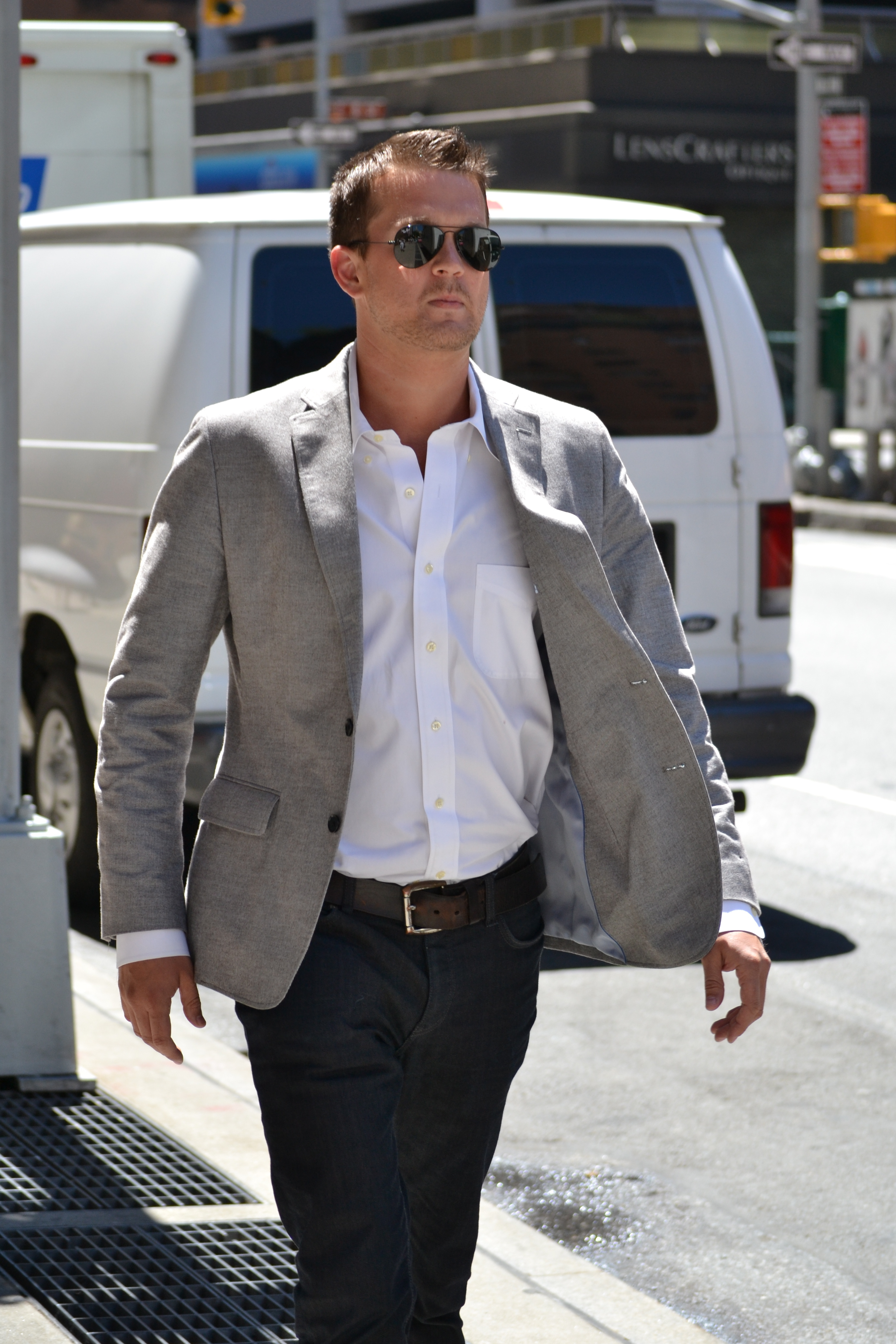 Business for Polo shirt with sport coat